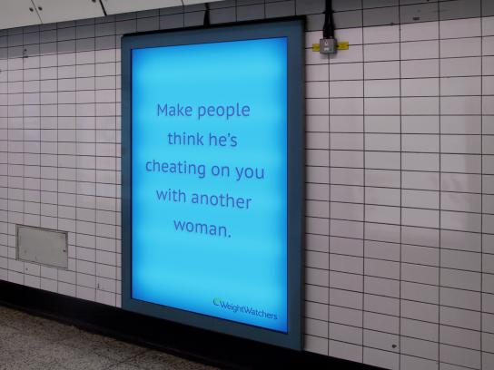 Weight Watchers Outdoor Ad - Cheating