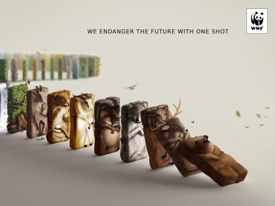 WWF Print Ad - One Shot