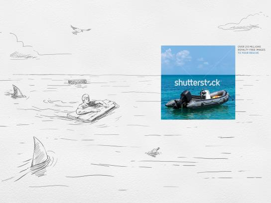 Shutterstock Print Ad - The Sketch Saver, Castaway