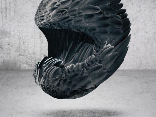 X-Lite Print Ad - Feather helmet