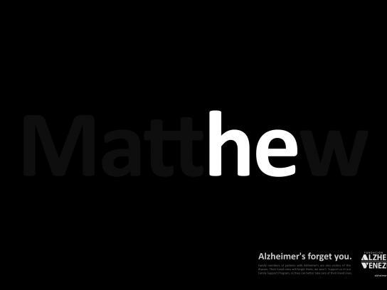 Venezuela's Alzheimer Foundation Print Ad - mattHEw