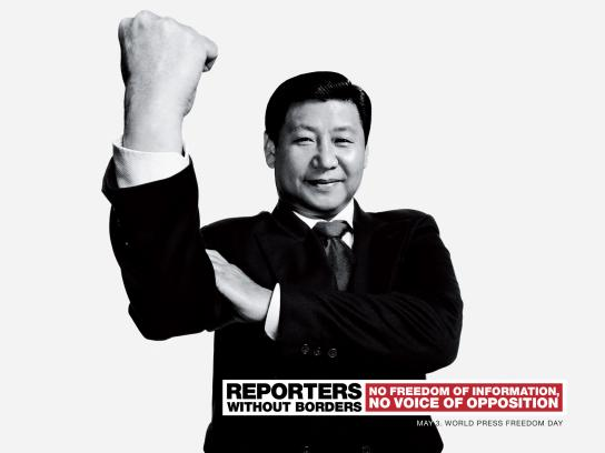 Reporters Without Borders Print Ad -  Xi