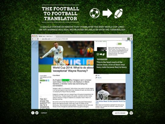 The Football to Football Translator Digital Ad - The Football to Football Translator