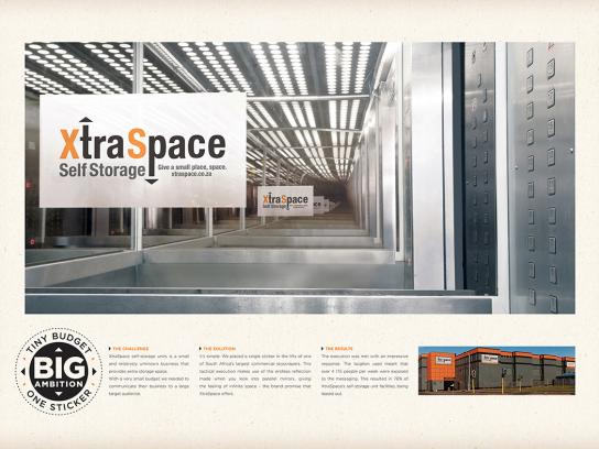 Xtra Space Outdoor Ad -  Sticker