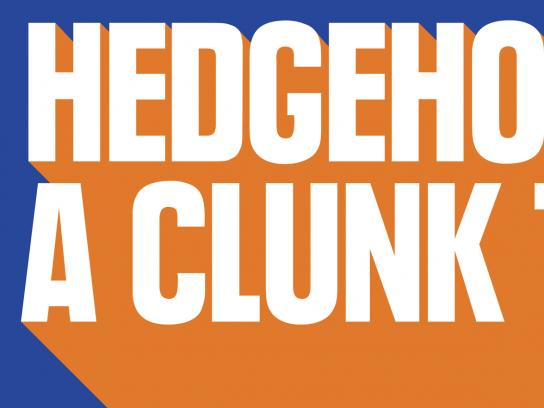IRN-BRU Outdoor Ad - Hedgehog Up A Clunk Tube
