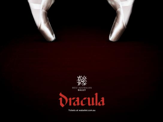West Australian Ballet Print Ad - Dracula