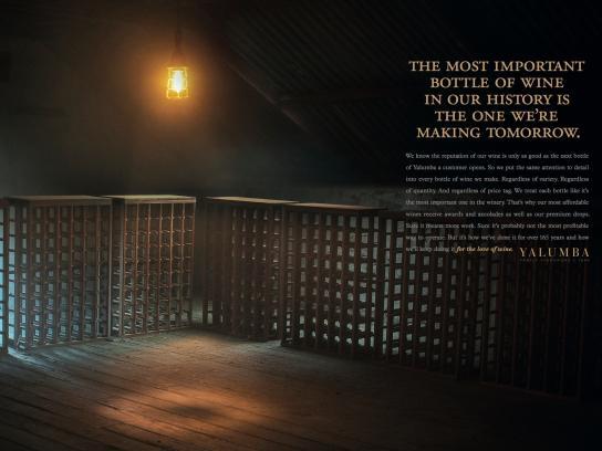 Yalumba Print Ad -  Tomorrow's Bottle