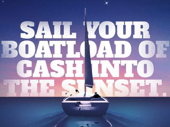 Kansas Lottery Print Ad - Boat