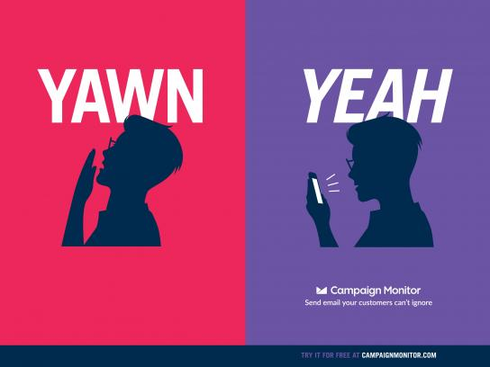 Campaign Monitor Outdoor Ad - Yawn - Yeah