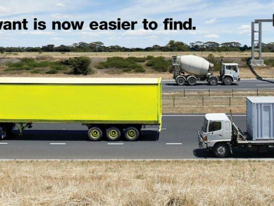 Trader Classifieds Print Ad -  Fluorescent Truck