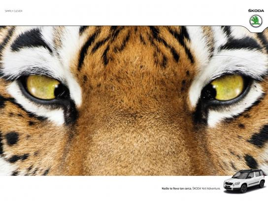 Skoda Print Ad -  Tiger
