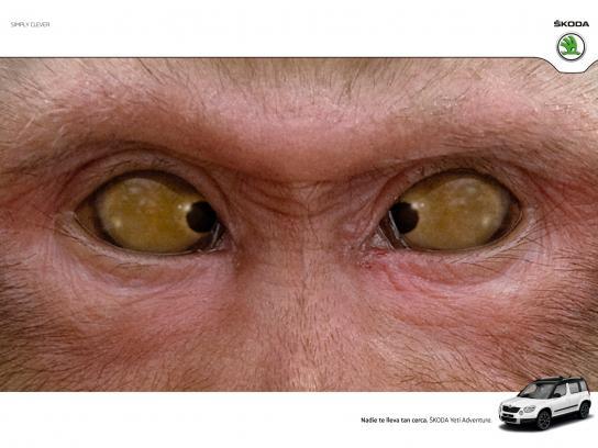 Skoda Print Ad -  Monkey