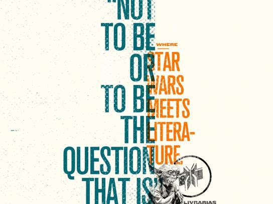 Livrarias Curitiba Print Ad -  Star Wars meets literature