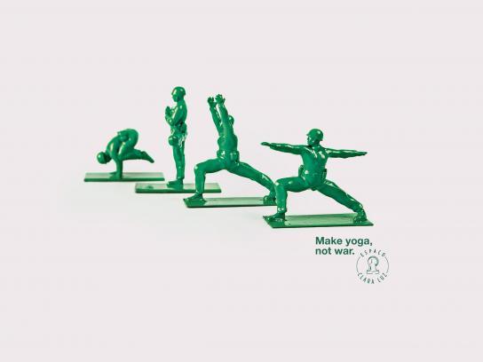 Espaço Clara Luz Print Ad -  Yoga soldiers, 2