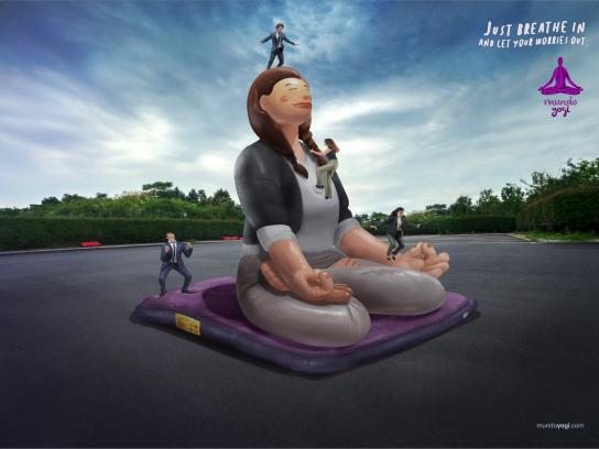 Mundo Yogi Print Ad - Yoga Inflatable Woman