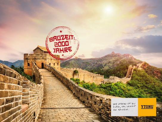 Xella Print Ad - Building Times – Chinese Wall