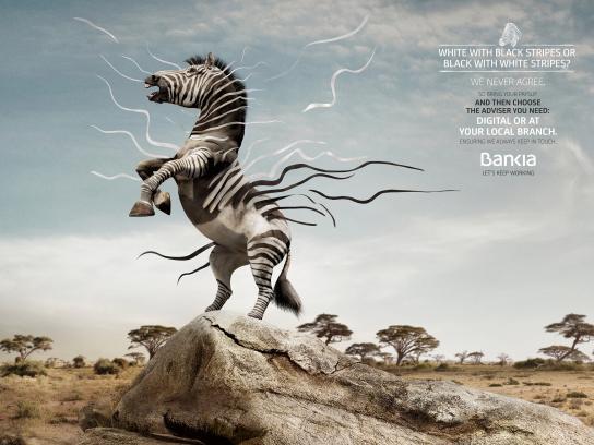 Bankia Print Ad - Zebra