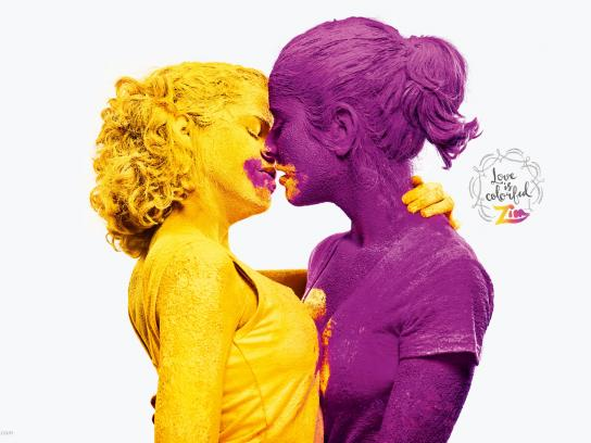 Zim Print Ad -  Love is colorful, 1