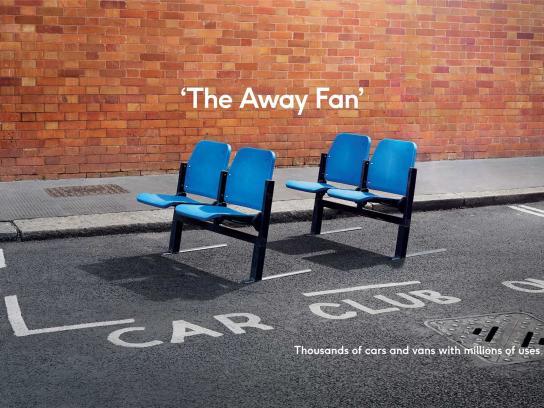 Zipcar Print Ad - The Away Fan