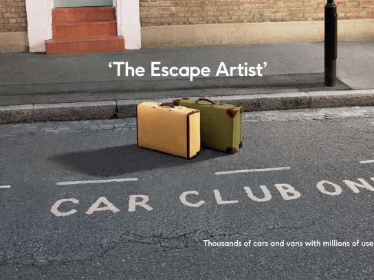 Zipcar Print Ad - The Escape Artist