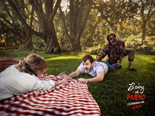 Zombie Walk Calgary Print Ad -  Bring a friend, 1