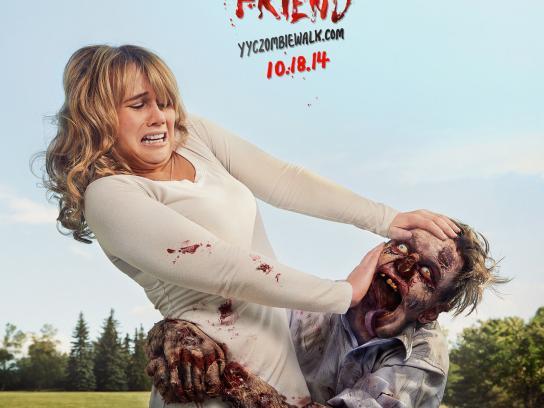 Zombie Walk Calgary Print Ad -  Bring a friend, 2