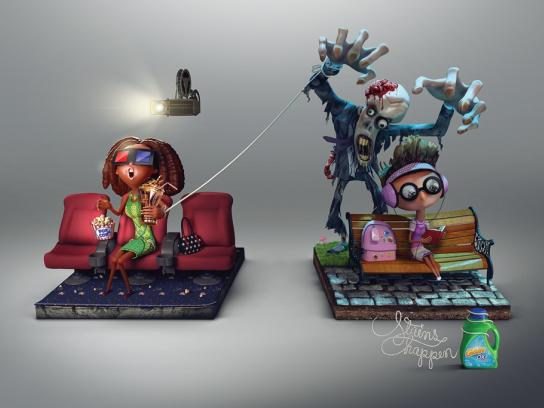 Gain Print Ad -  Zombie