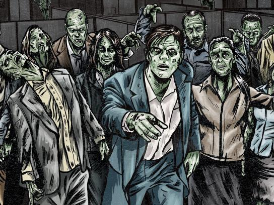 Justworks Outdoor Ad - Zombie