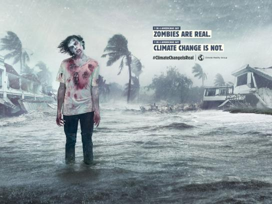 Climate Reality Group Print Ad - Zombies