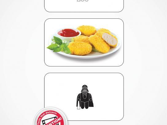 The Golden Chicken Print Ad -  Star Wars