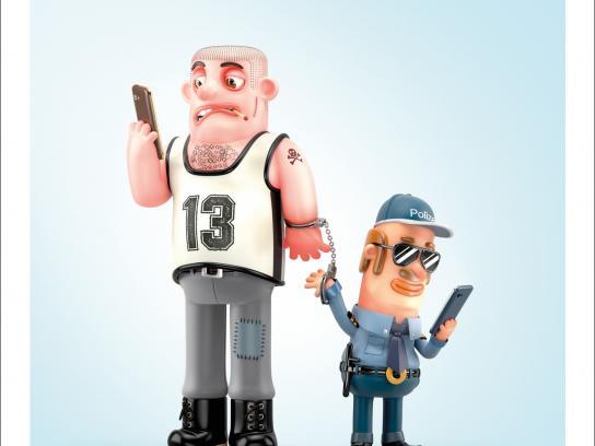 ZVV Print Ad -  Cop & Robber
