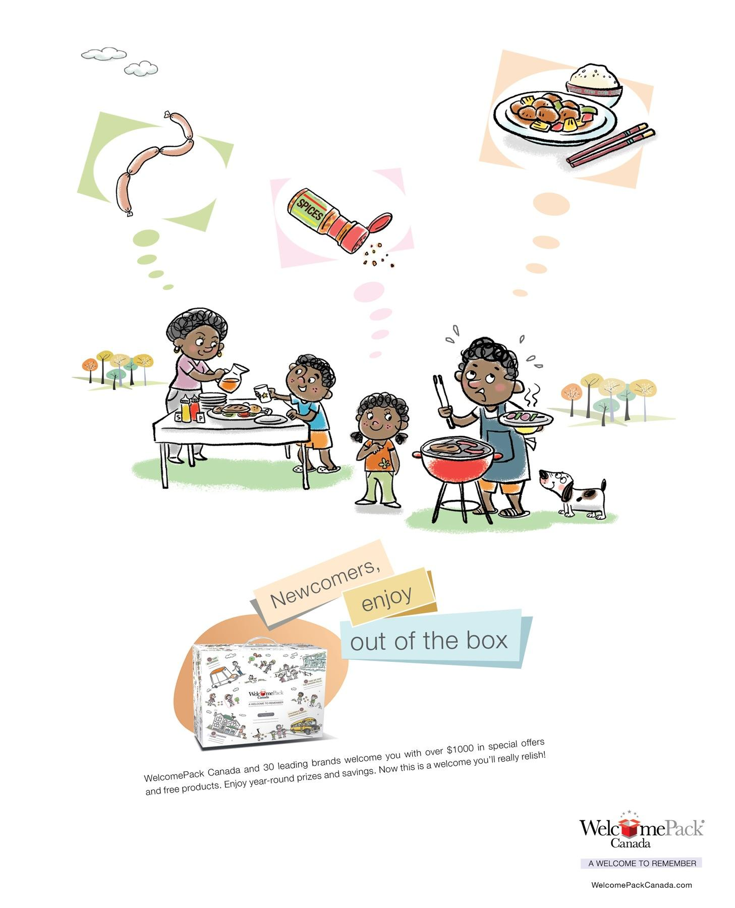 WelcomePack Print Ad -  Barbeque