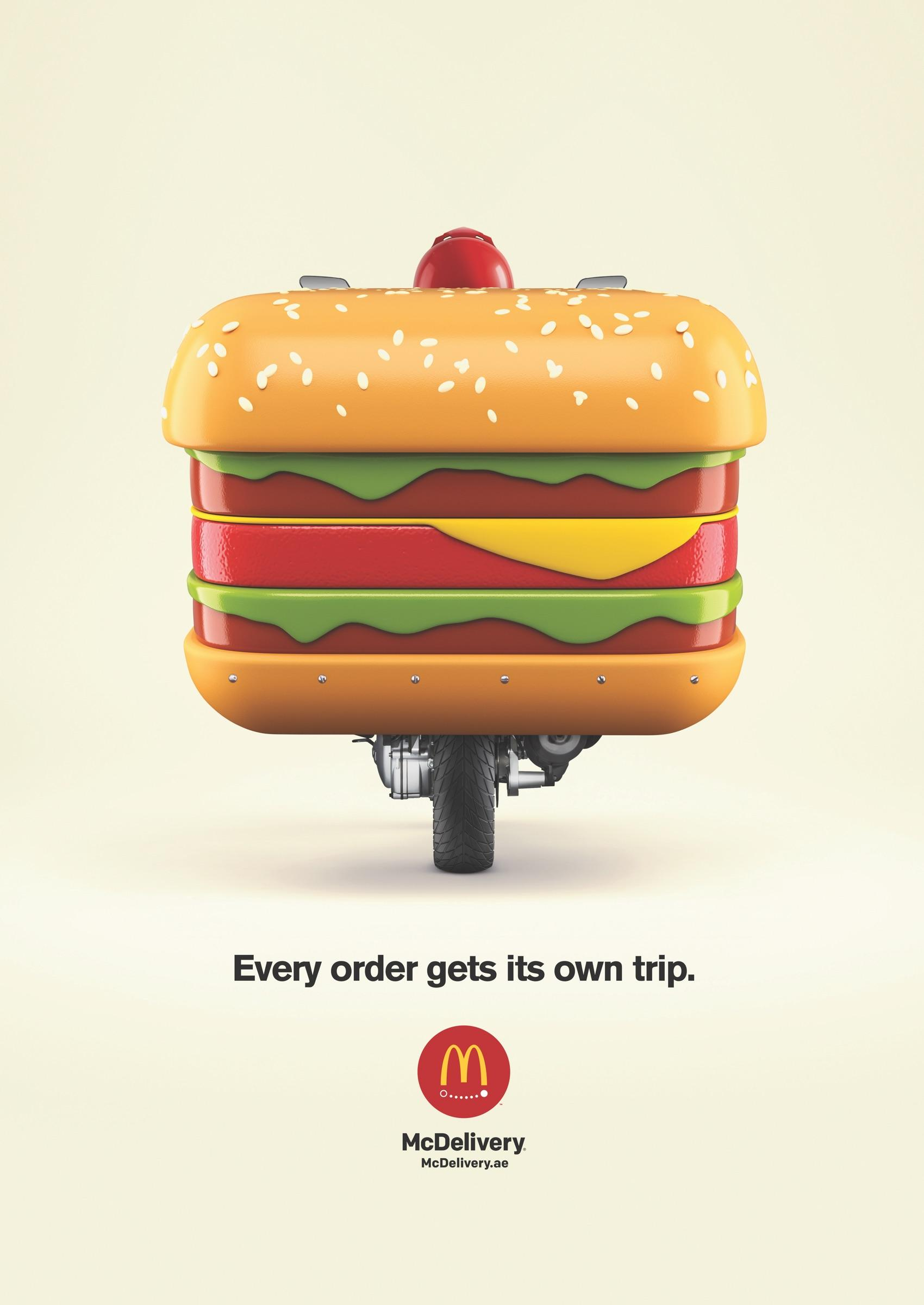 McDonald's Print Ad - Every Order Get It's Own Trip - Burger