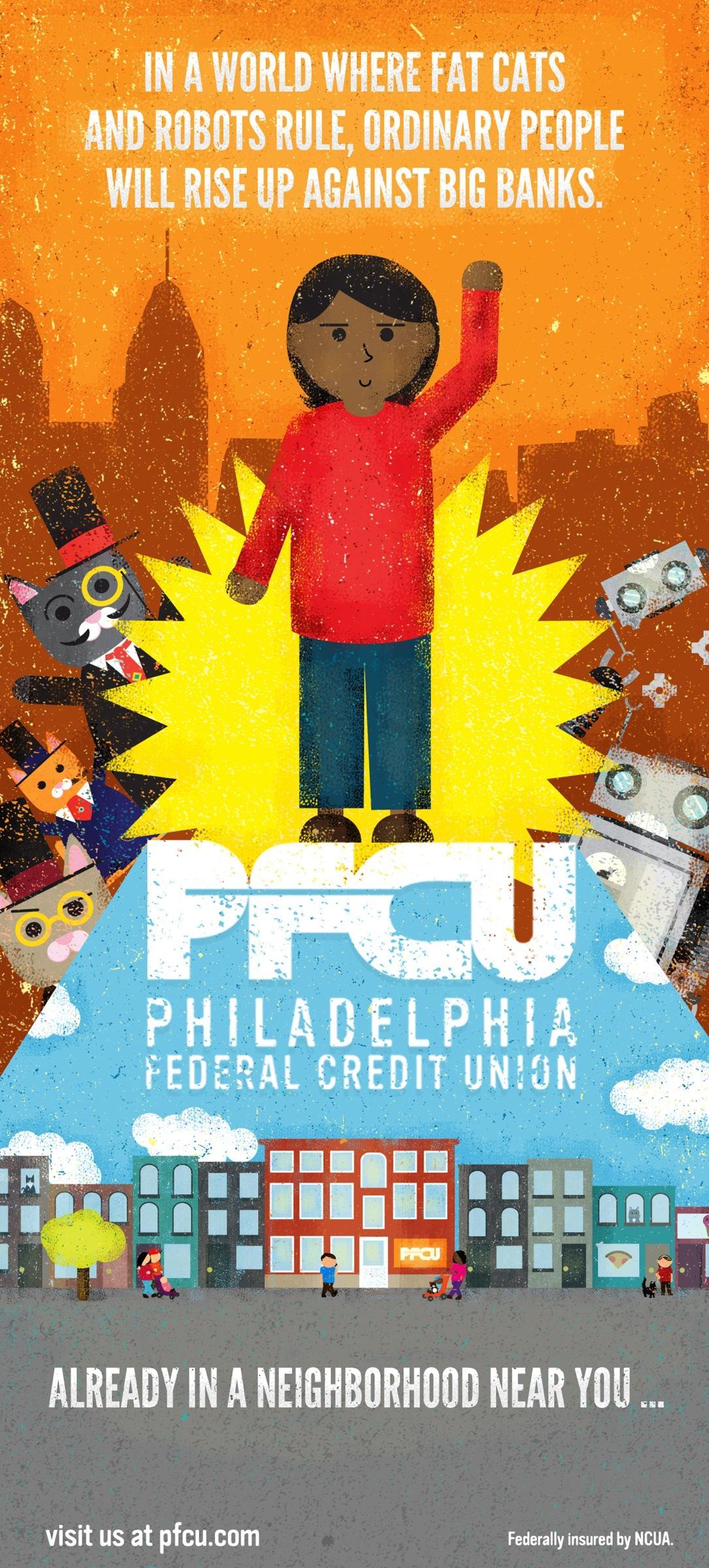 Philadelphia Federal Credit Union Print Ad -  Fat cats