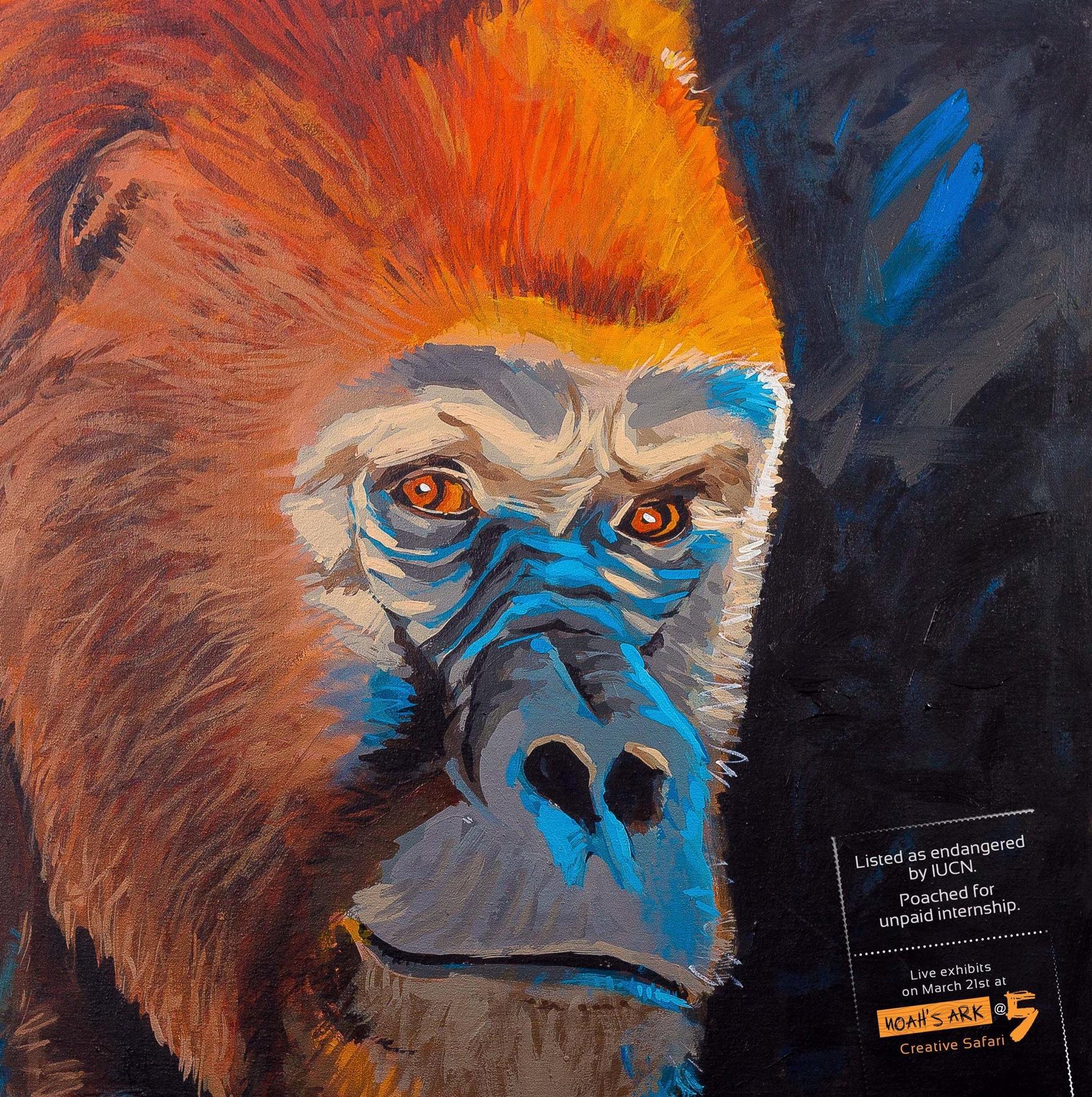 Noah's Ark Creative Print Ad -  Gorilla