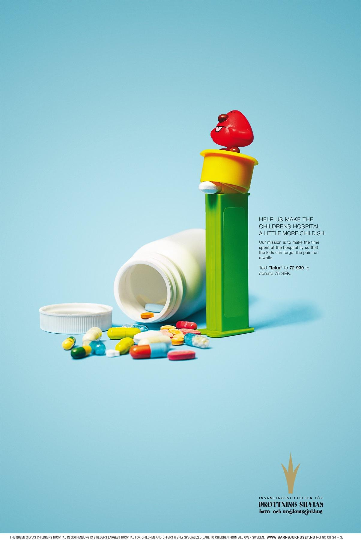 The Foundation for Queen Silvia Children's Hospital Print Ad -  More childish, 2