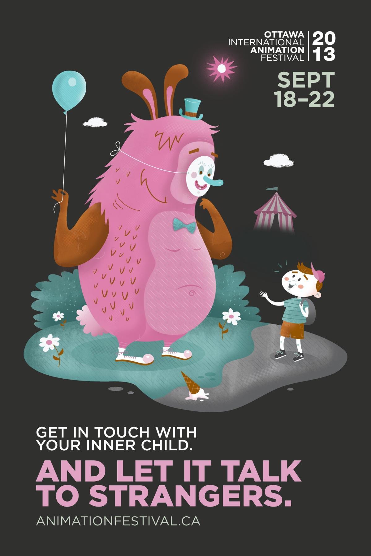 Ottawa International Animation Festival Outdoor Ad -  Inner child, 1