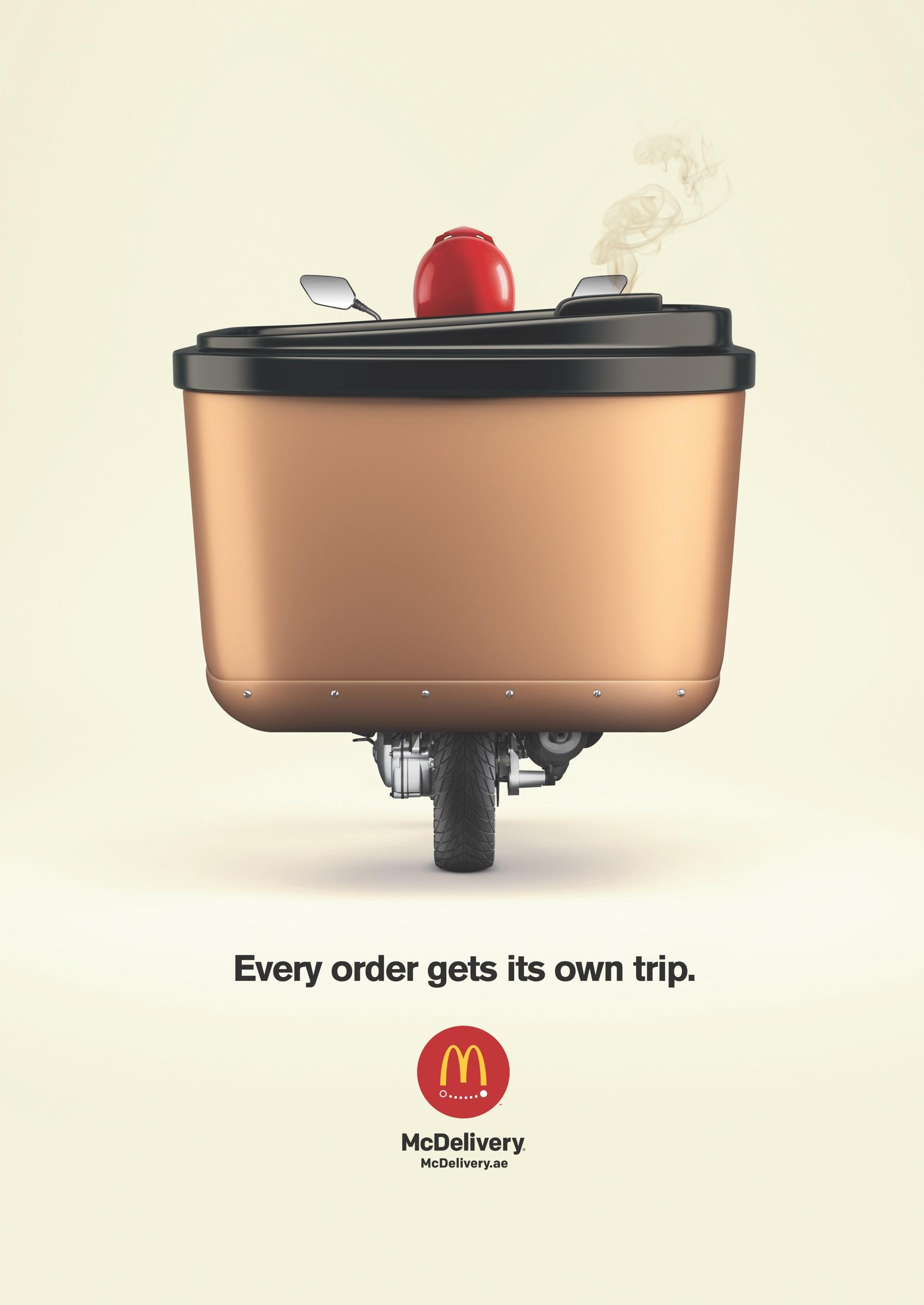 McDonald's Print Ad - Every Order Get It's Own Trip - Coffee