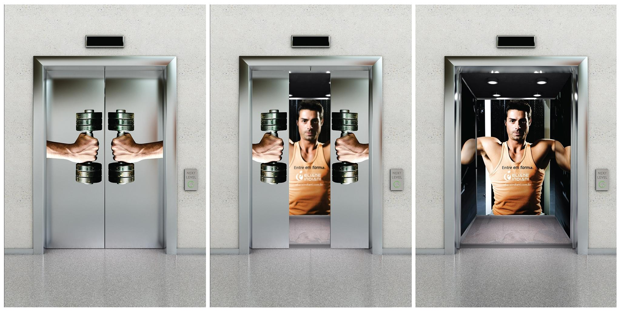 Eliane Indiani Fitness Center Outdoor Ad -  Dumbbells