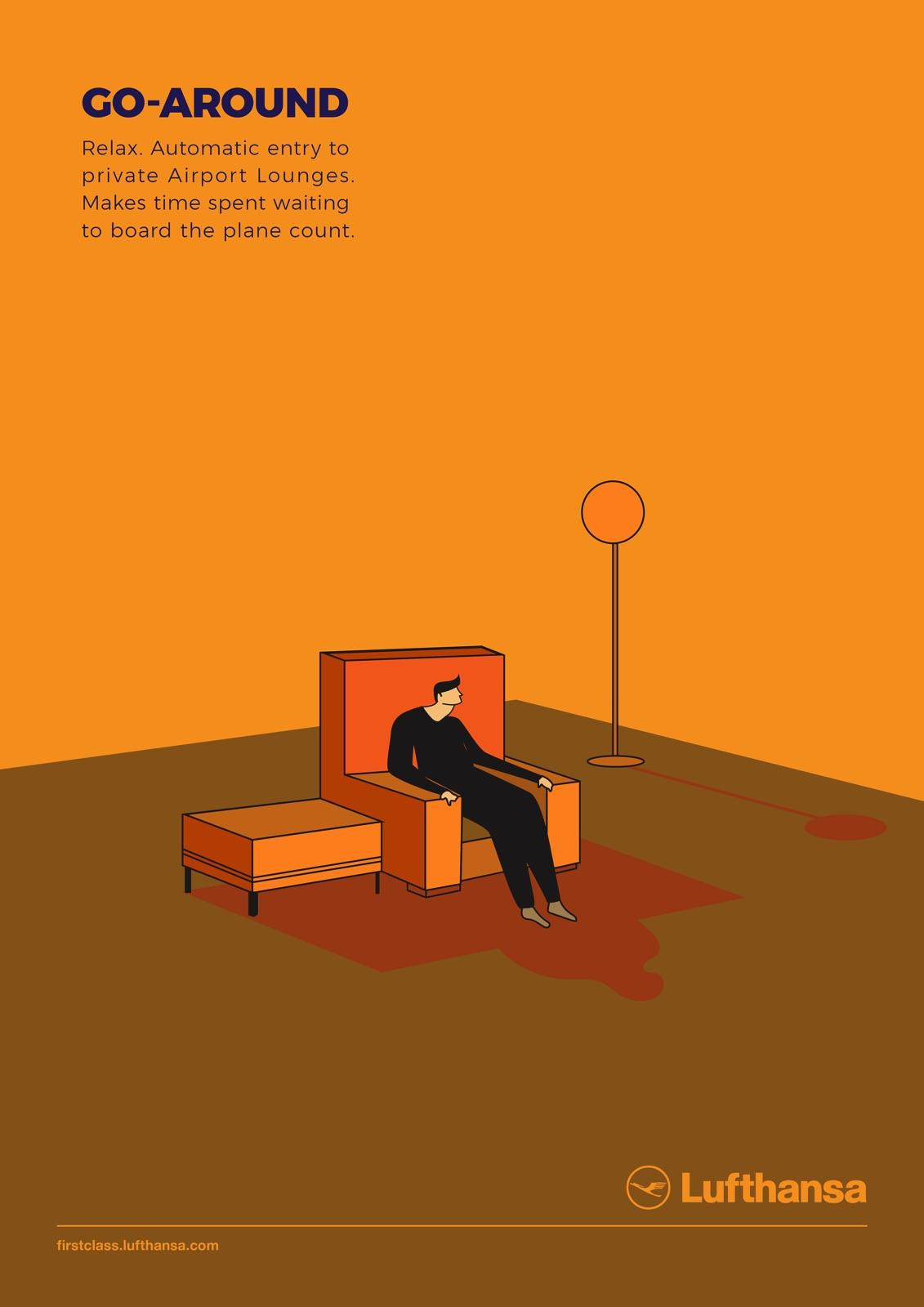 Lufthansa Print Ad - First Class Travel - Go-Around