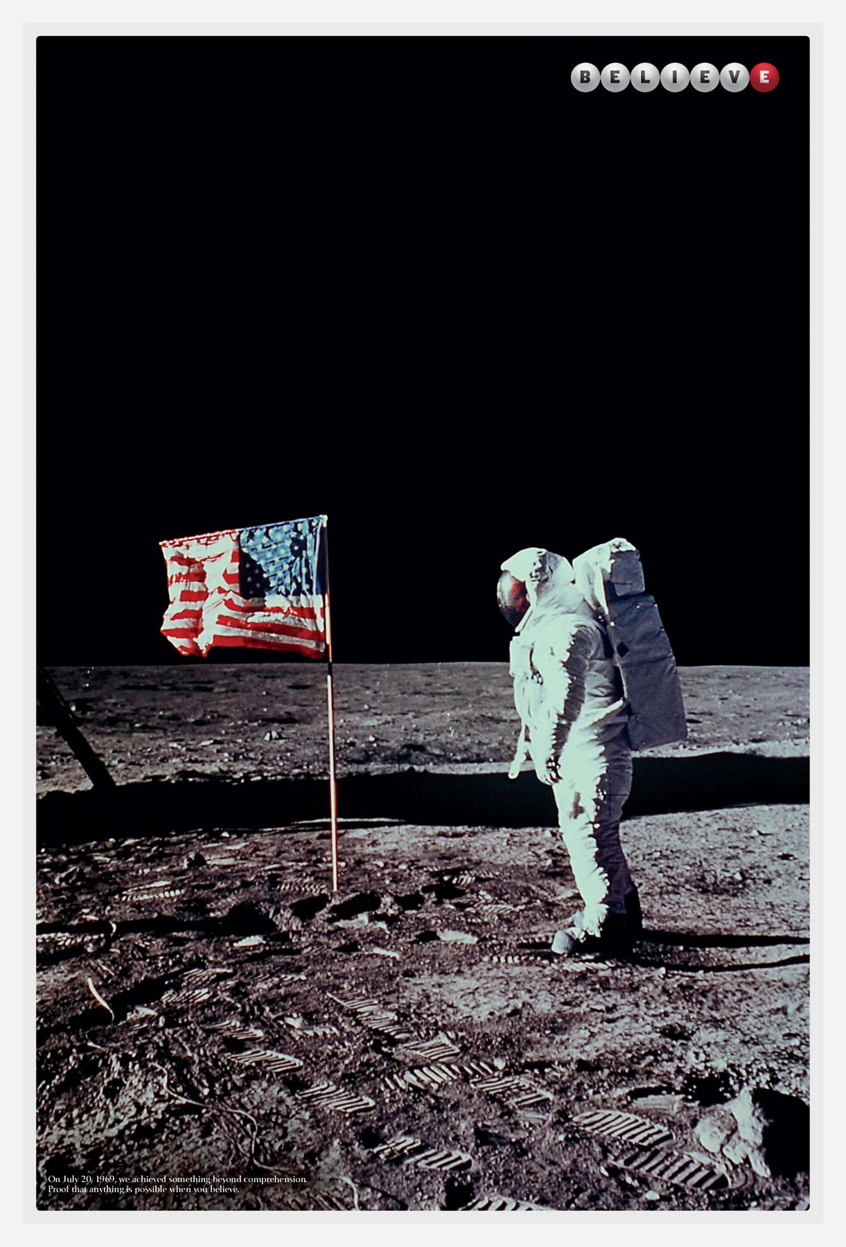 The California Lottery Outdoor Ad -  Moon landing