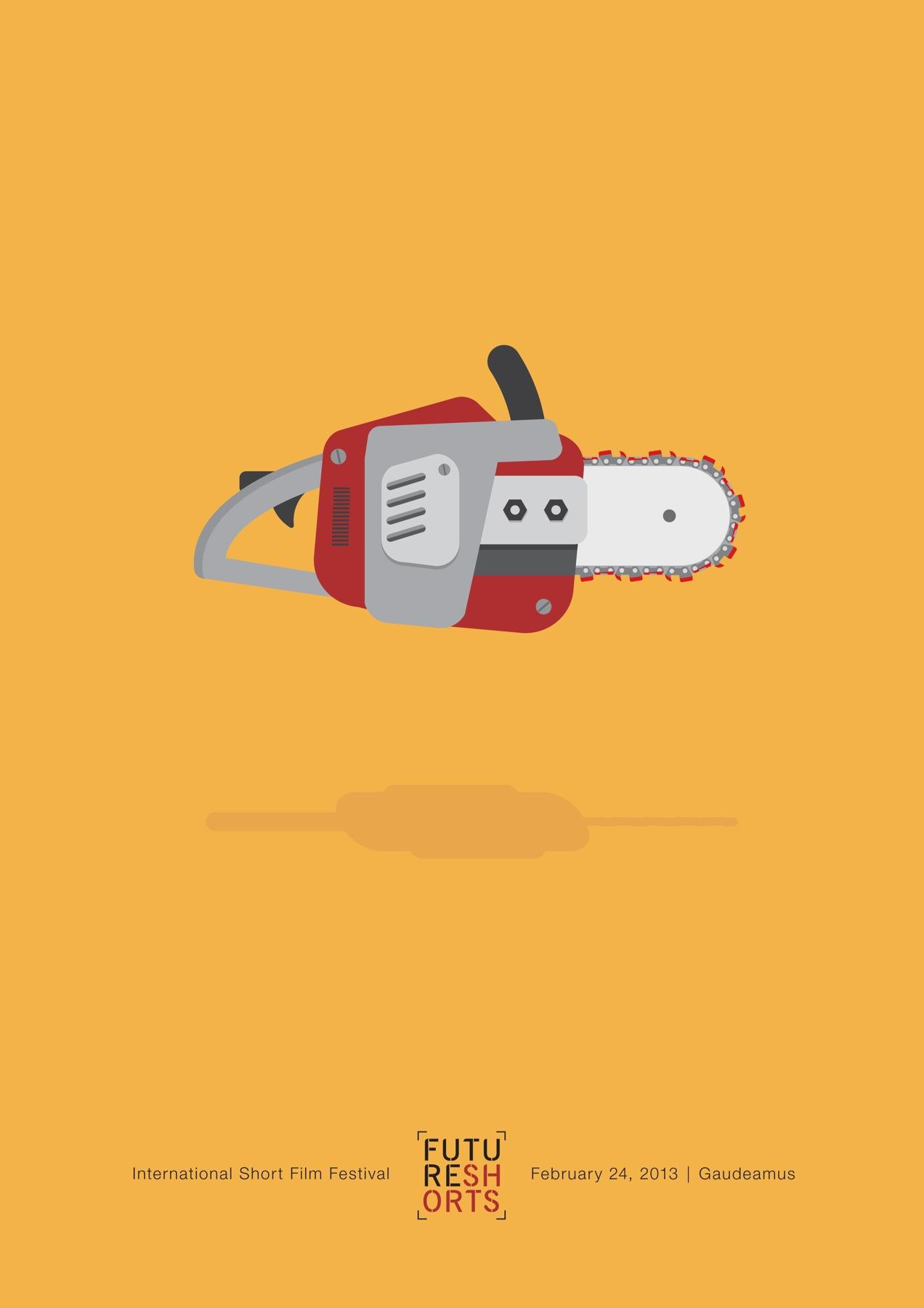 Future Shorts Print Ad -  Chainsaw