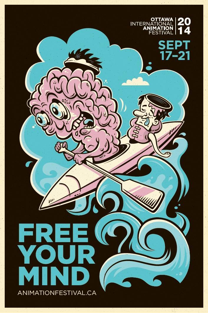 Ottawa International Animation Festival Outdoor Ad -  Free your mind, 4