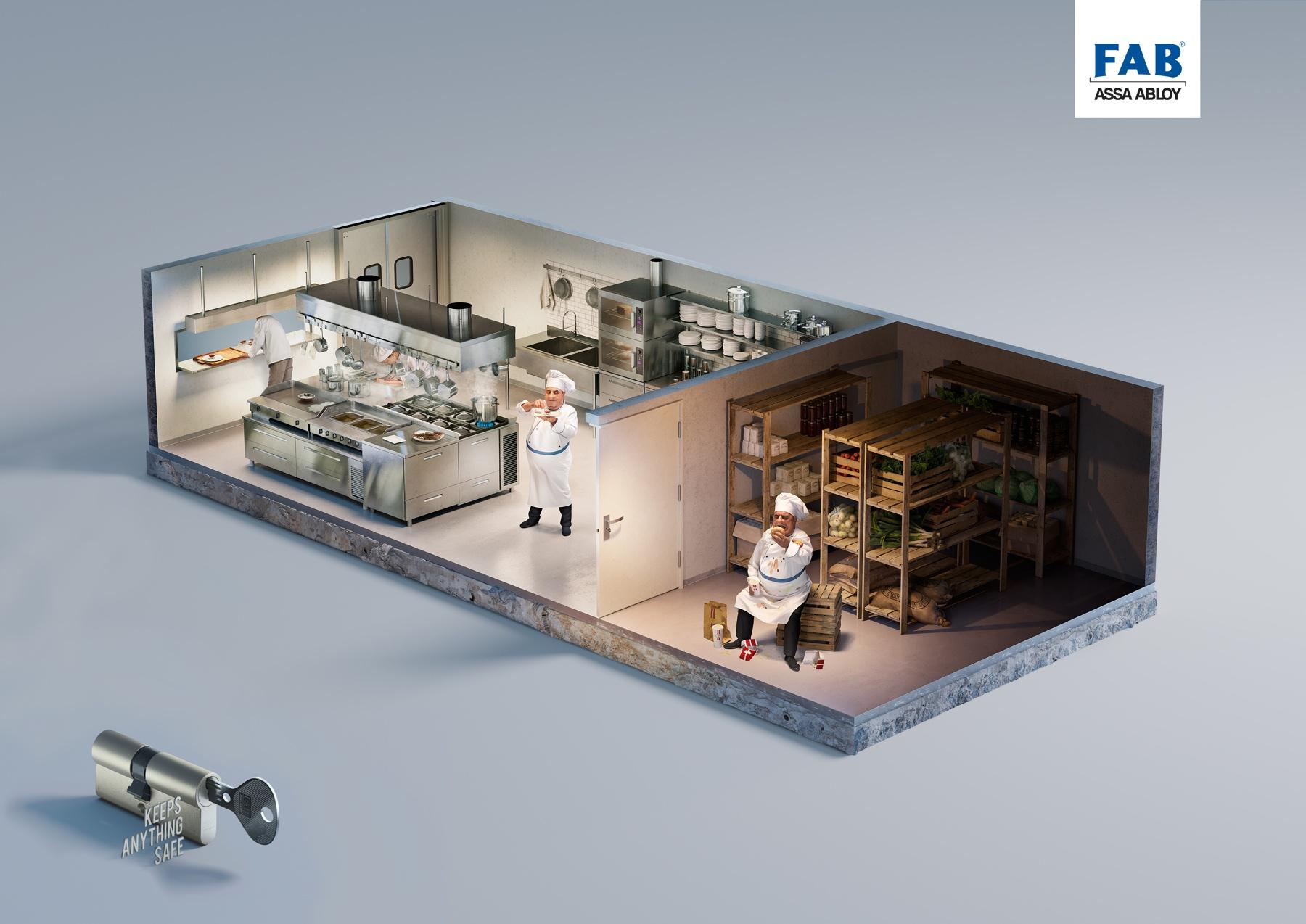 Assa Abloy Print Ad -  Behind the door, Chef