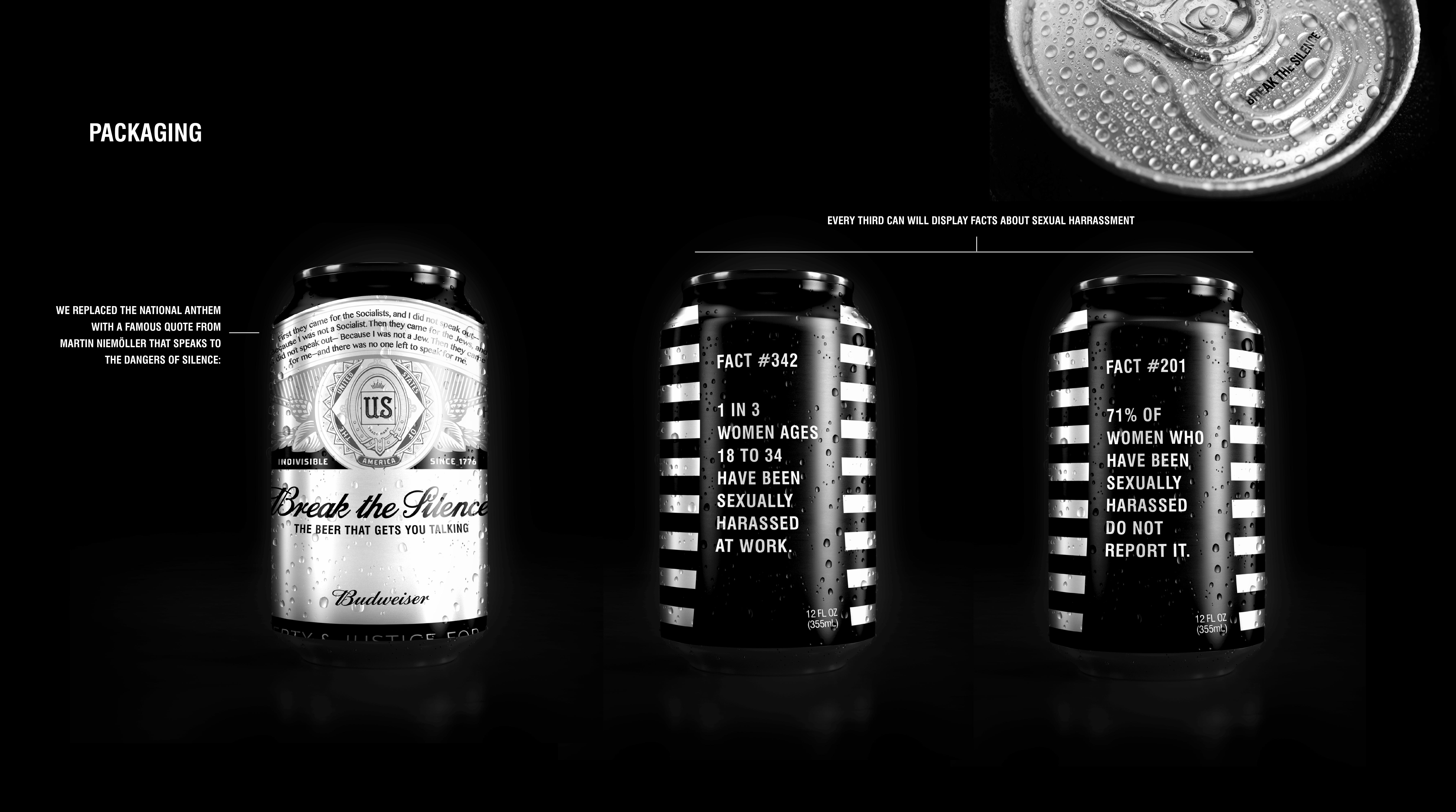 Budweiser Design Ad - Break the Silence