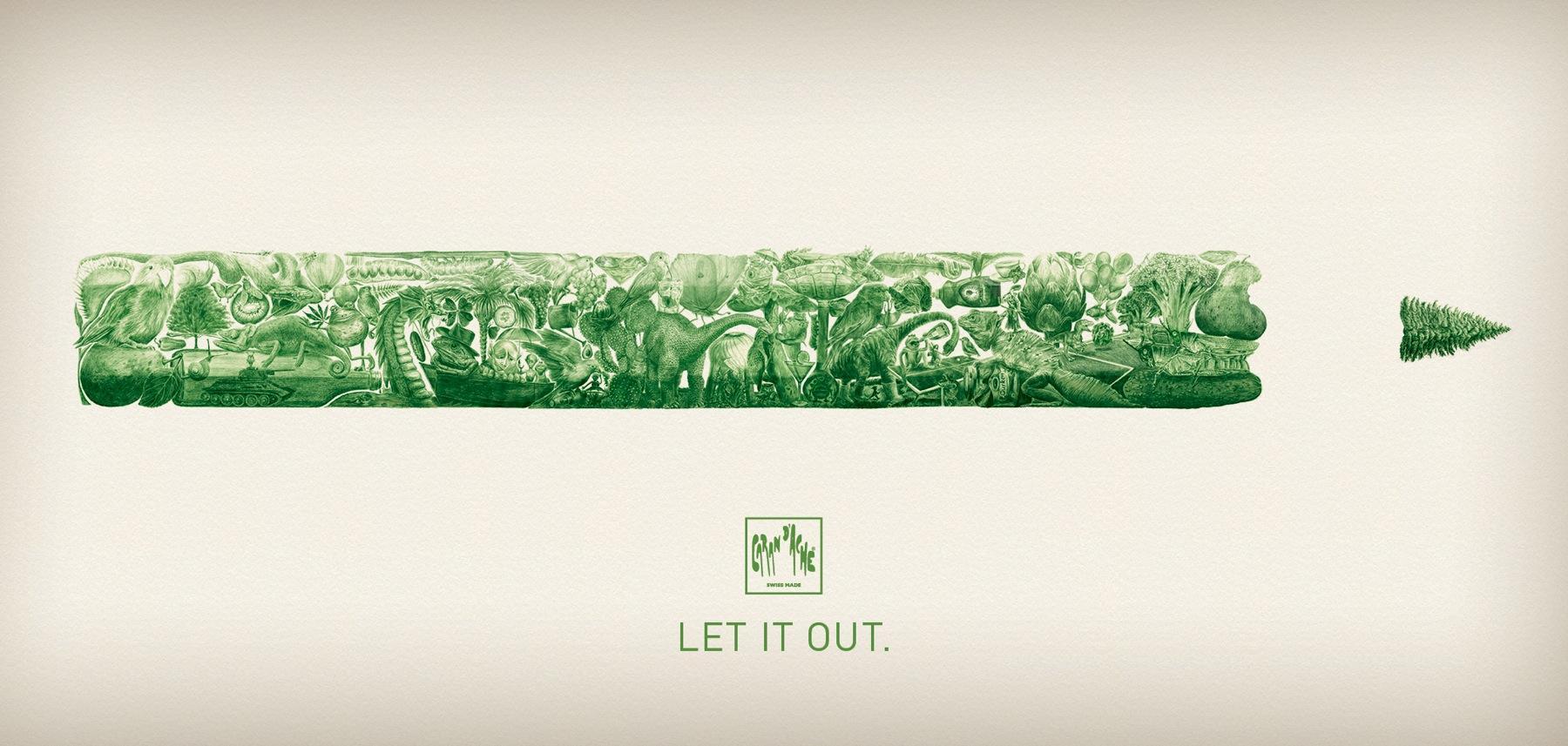Caran d'Ache Print Ad -  Green