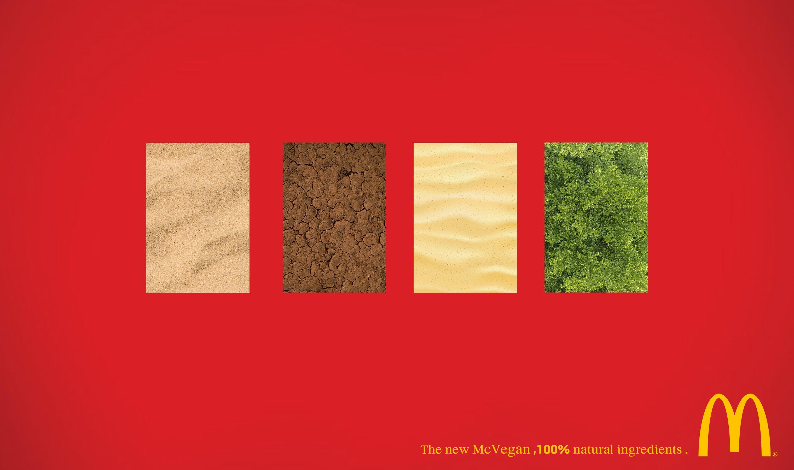 McDonald's Print Ad - 100% Natural Ingredients