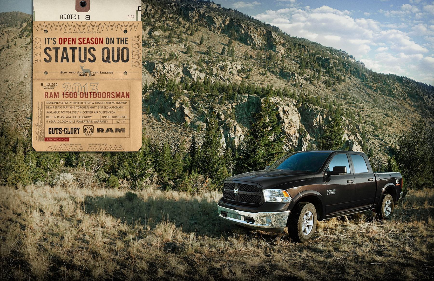 RAM Print Ad -  Outdoorsman, Deer