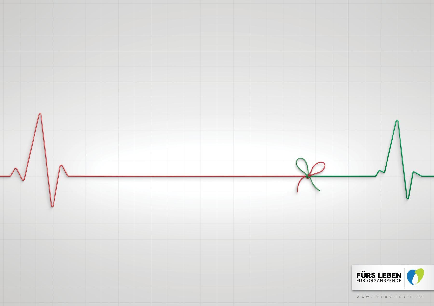 Foundation for Life Print Ad -  Flatline ribbon