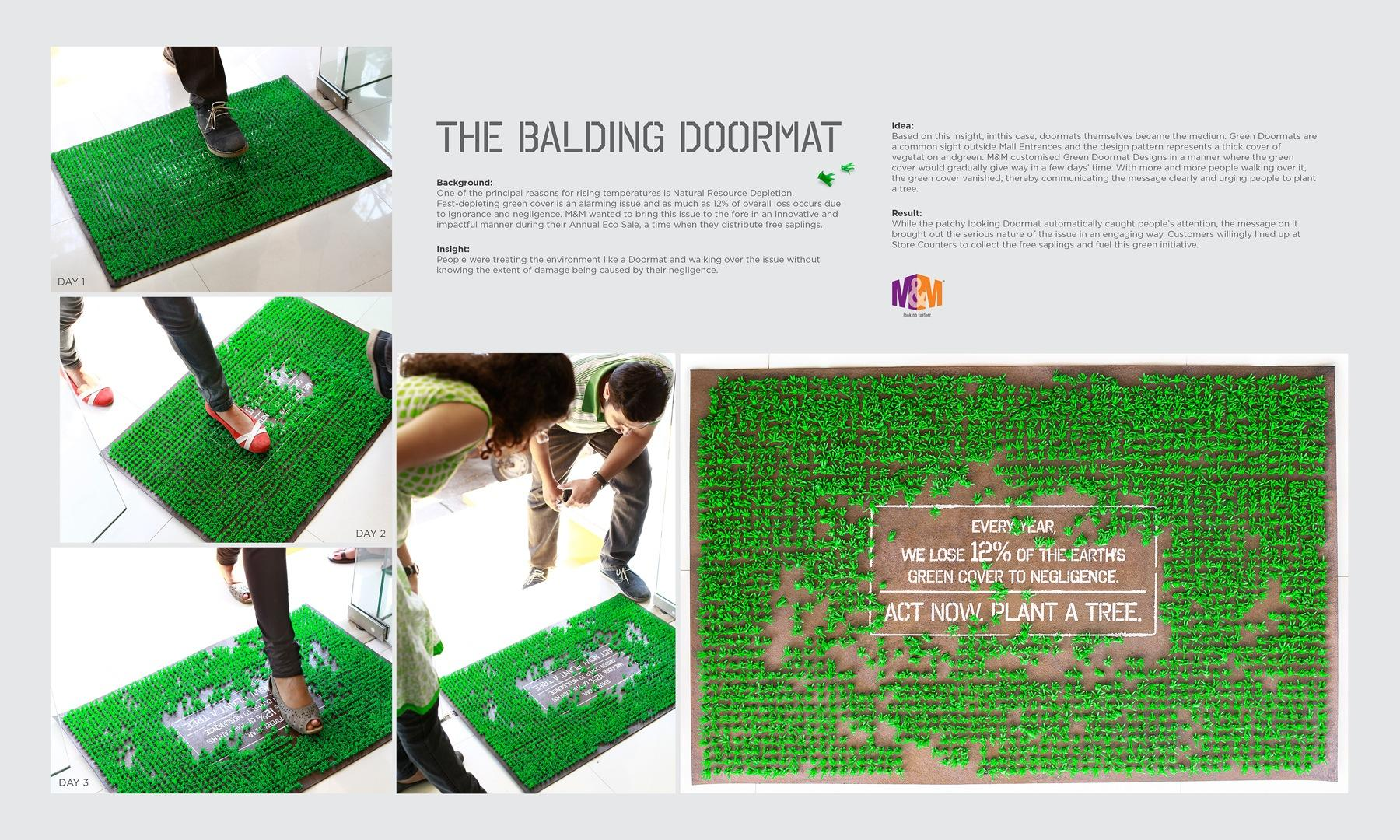 M&M Ambient Ad -  The Balding Doormat